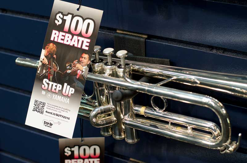 Instrument rebates at Paige's Music
