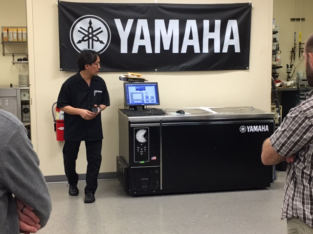Wayne Tanabe of Yamaha talking about their cryogenic machine for brass instruments.