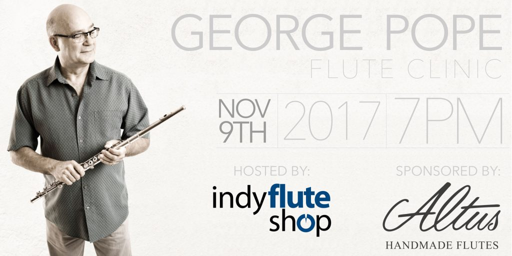 George Pope Flute Clinic and Performance at Indy Flute Shop