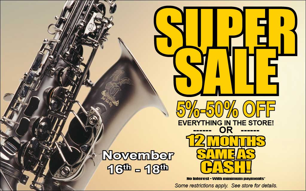2017 SuperSale at Paige's Music In Indianapolis