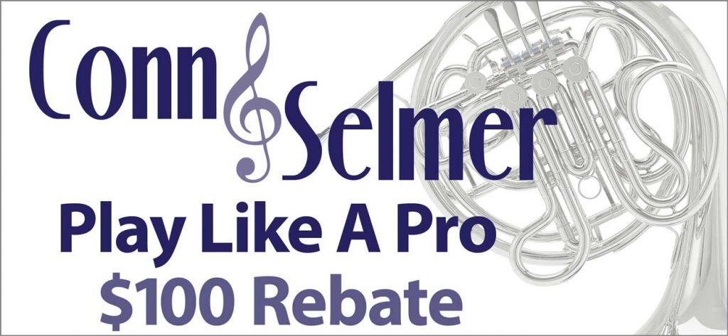 Conn-Selmer Play Like A Pro $100 Rebate | Paige's Music News